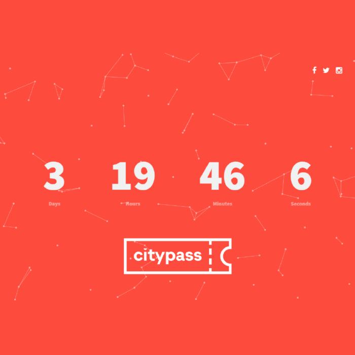 citypass counter για την έναρξη λειτουργίας του ψηφιακού οδηγού